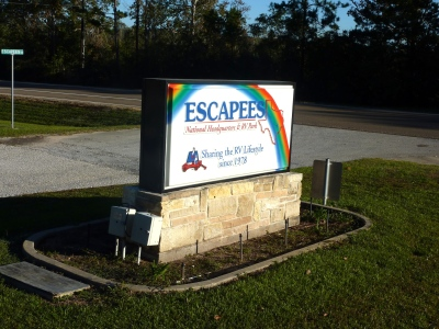 Escapees home park in Livingston, TX