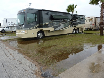 Puddles around the RV