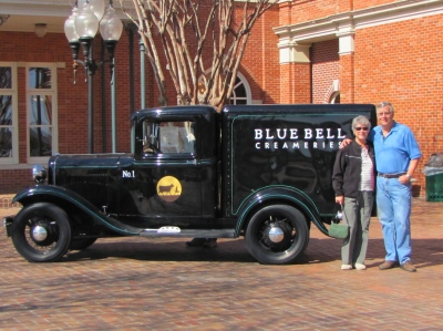 The original Blue Bell refrigerated delivery truck