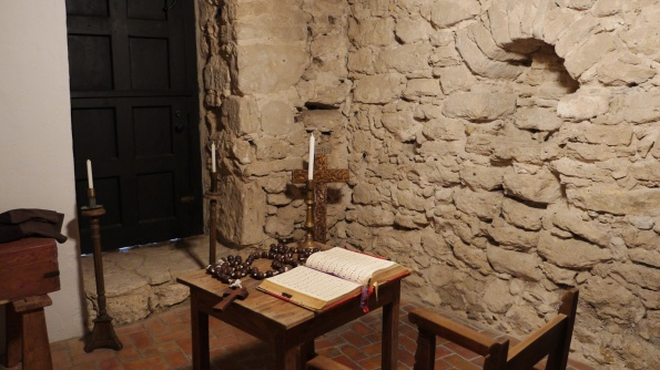 Inside the sacristy