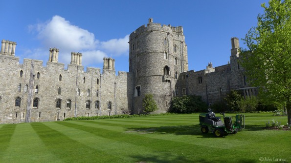 One of the turrets at Windsor Castle