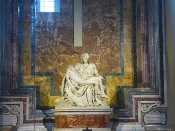 Michelangelo's first statue
