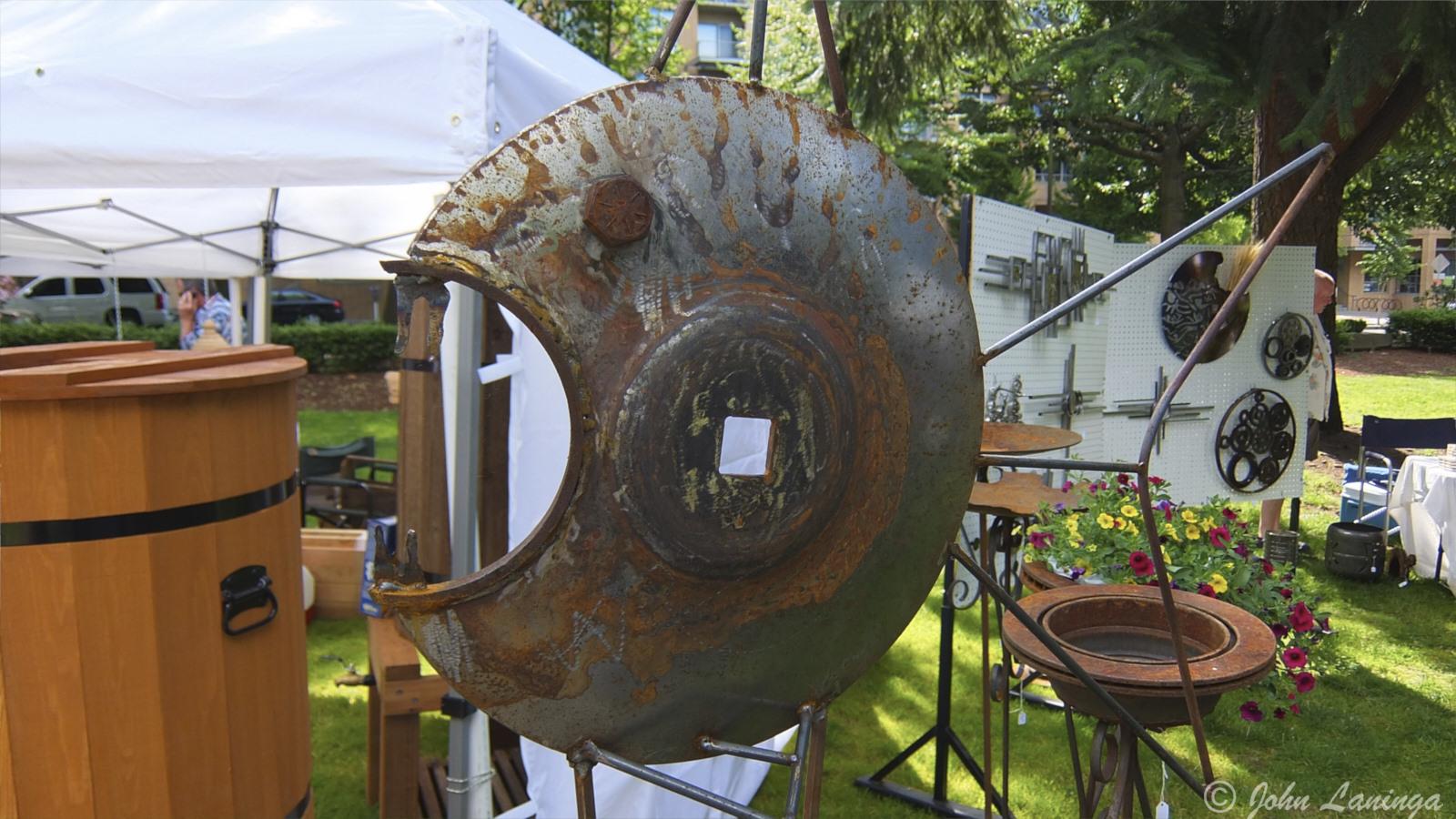 More scrap metal turned to art