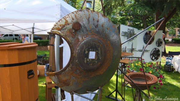 More scrap metal turned to art