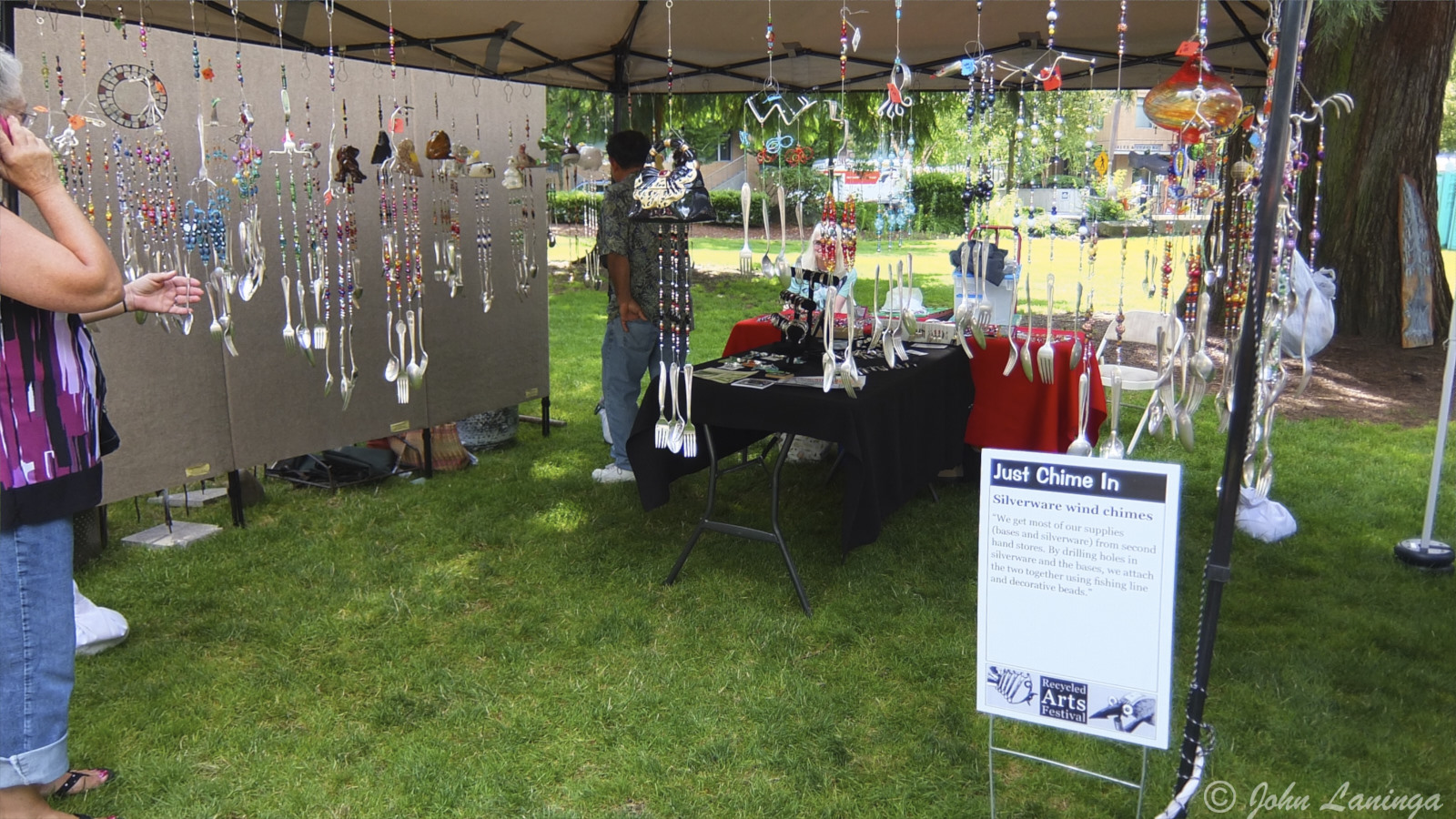 Wind chimes from old cutlery