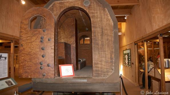 Inside the log cabib motor home