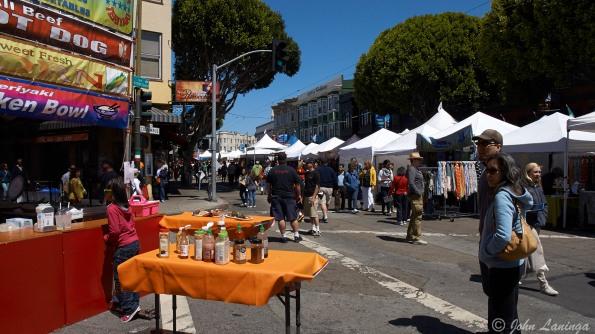 Street fair when we arrived