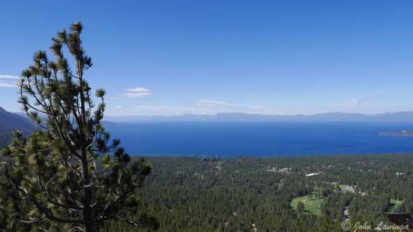 A view of Lake Tahoe from the pass