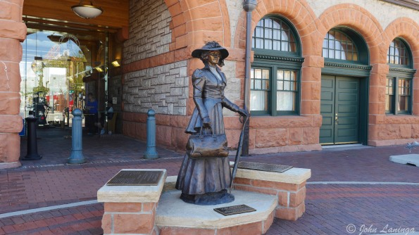 Wyoming was the first state to give women the vote; a commemorative statue