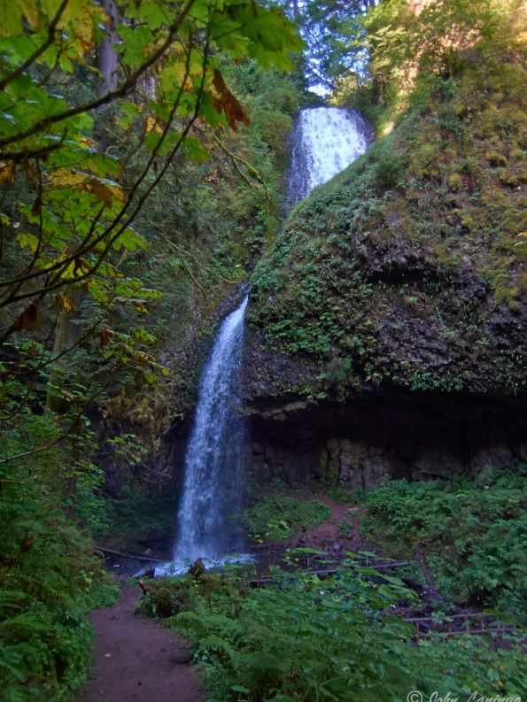 Upper Latourell Falls, probably some 200 ft tall.