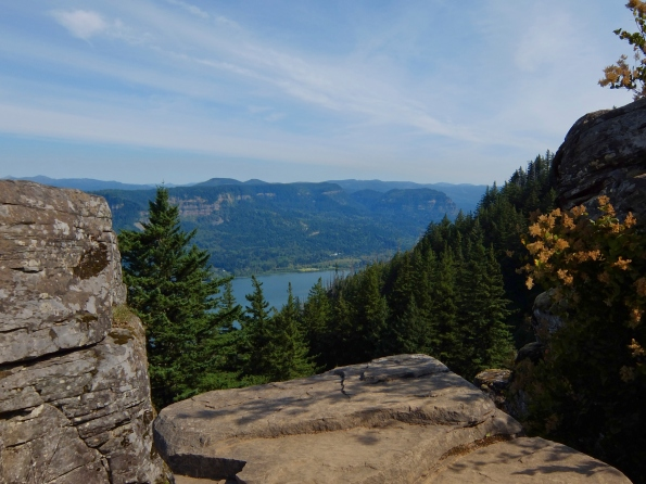 A view west to the Columbia River