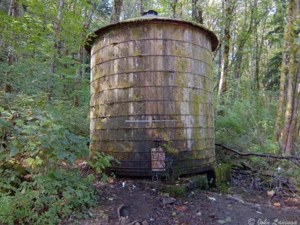 The old water tower, close to the bottom