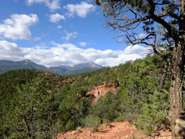 Pikes Peak from behind the Garden of the Gods
