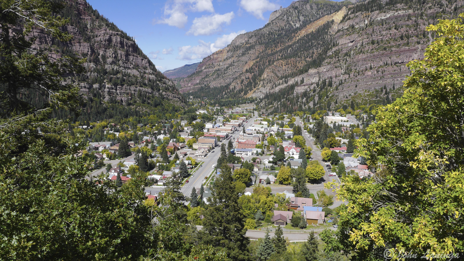 The town of Ouray, CO