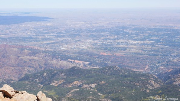 Colorado Springs, from 14,140 feet up