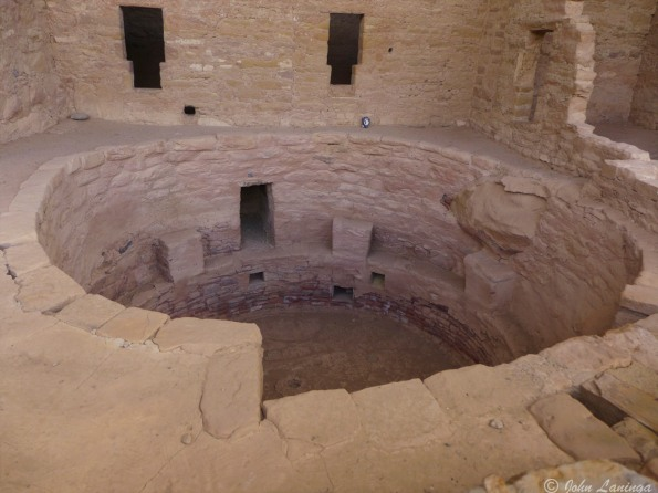 Inside a cliff dwelling kiva