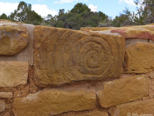 Some decorations at the entry to a Kiva