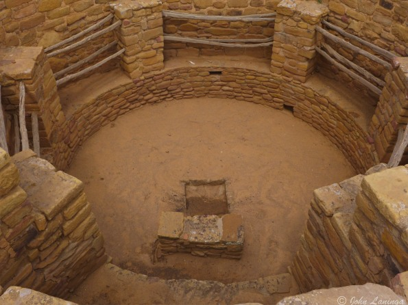 Looking inside one of the kivas