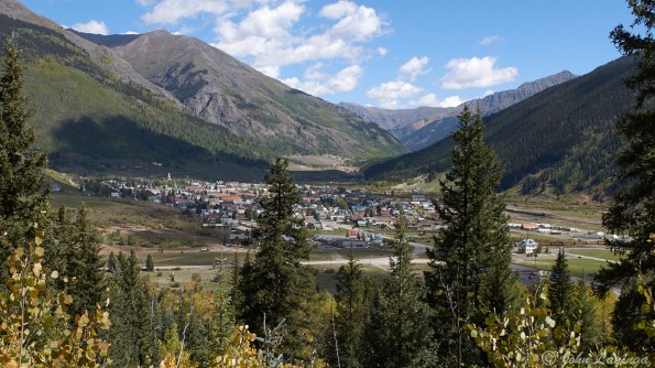 Looking down toSilverton from the road