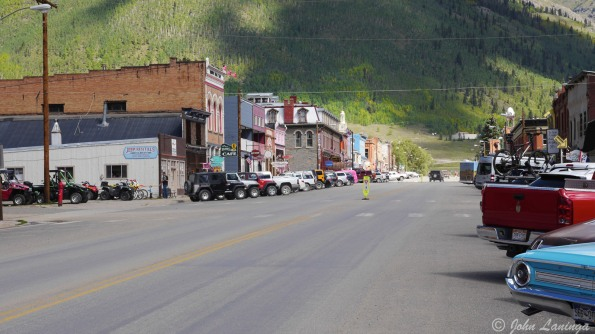 Main Street, Silverton, the only paved street in town