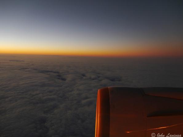 Approaching Barcelona after a long flight