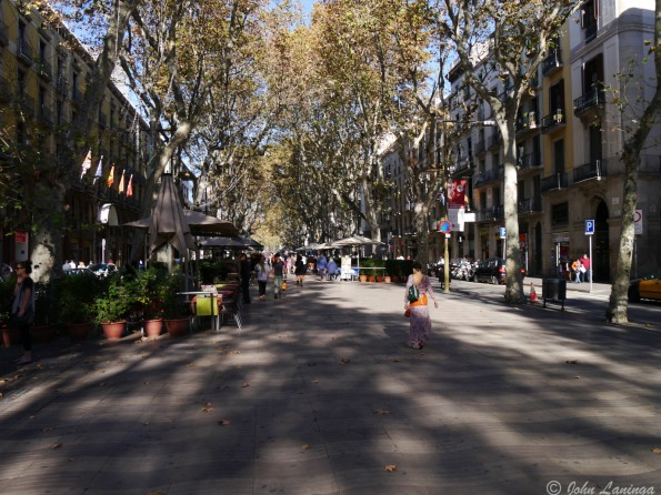 Ah yes, the always busy La Rambla