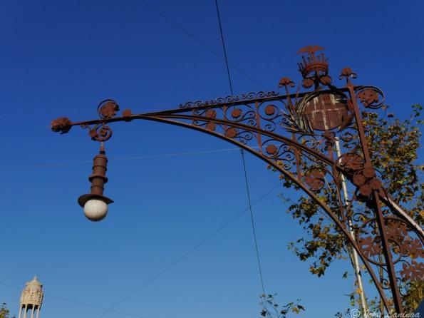 Even lamp posts are decorative