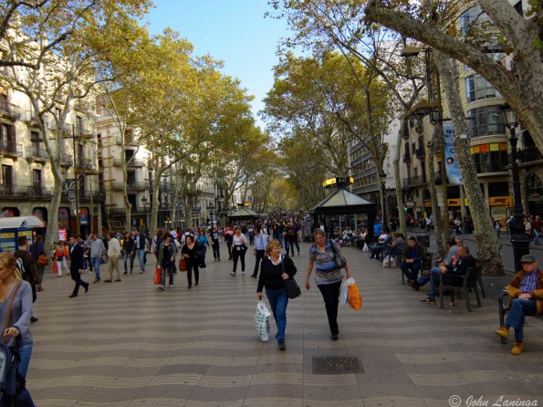 Daylight on the La Rambla