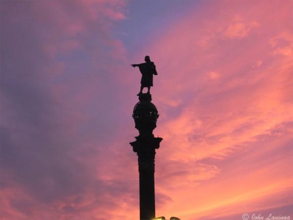 Columbus at dusk...