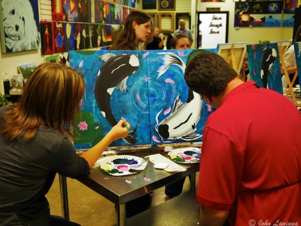 Shane and Tanya hard at work