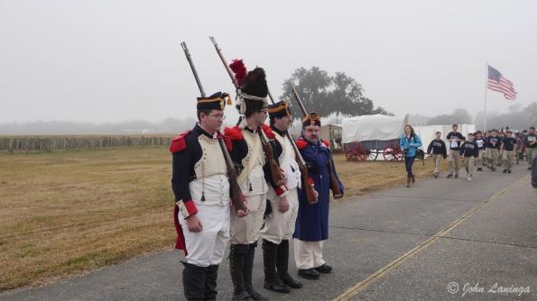 The militia arrives