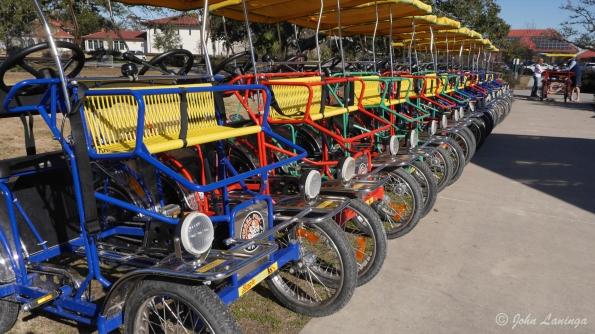 Rental pedal cars