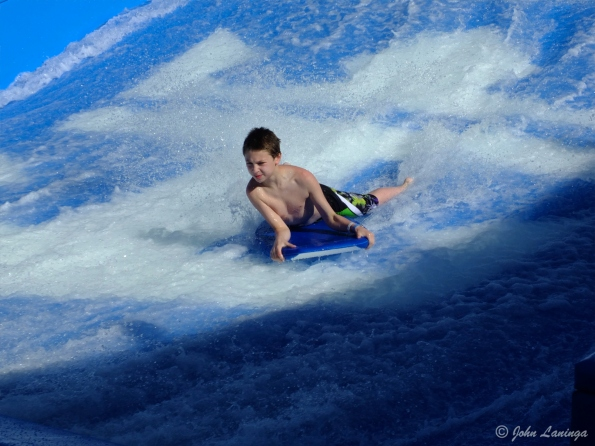 A kid on the wave rider