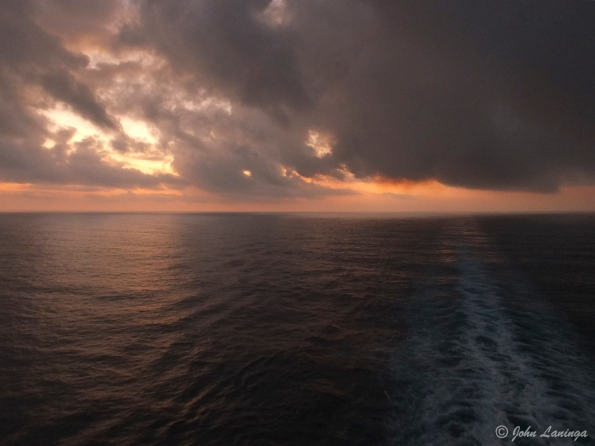 Sunrise on the last day at sea