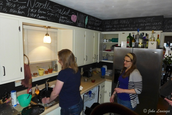 Stacy and Dallas in the kitchen