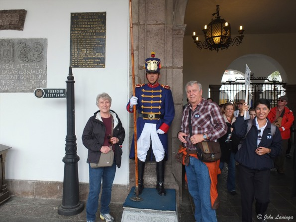 At the palace (Quito)