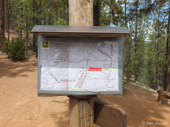 Trail map at the top