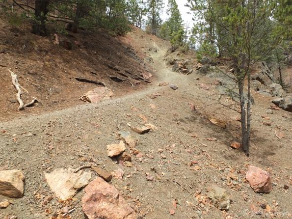A steep stretch