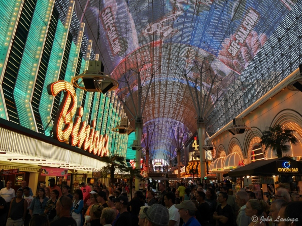 Inside the Fremont street LED display