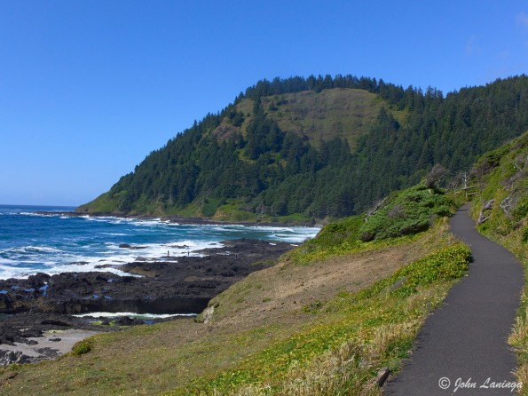 Cape Perpetua, quite a climb to the top!