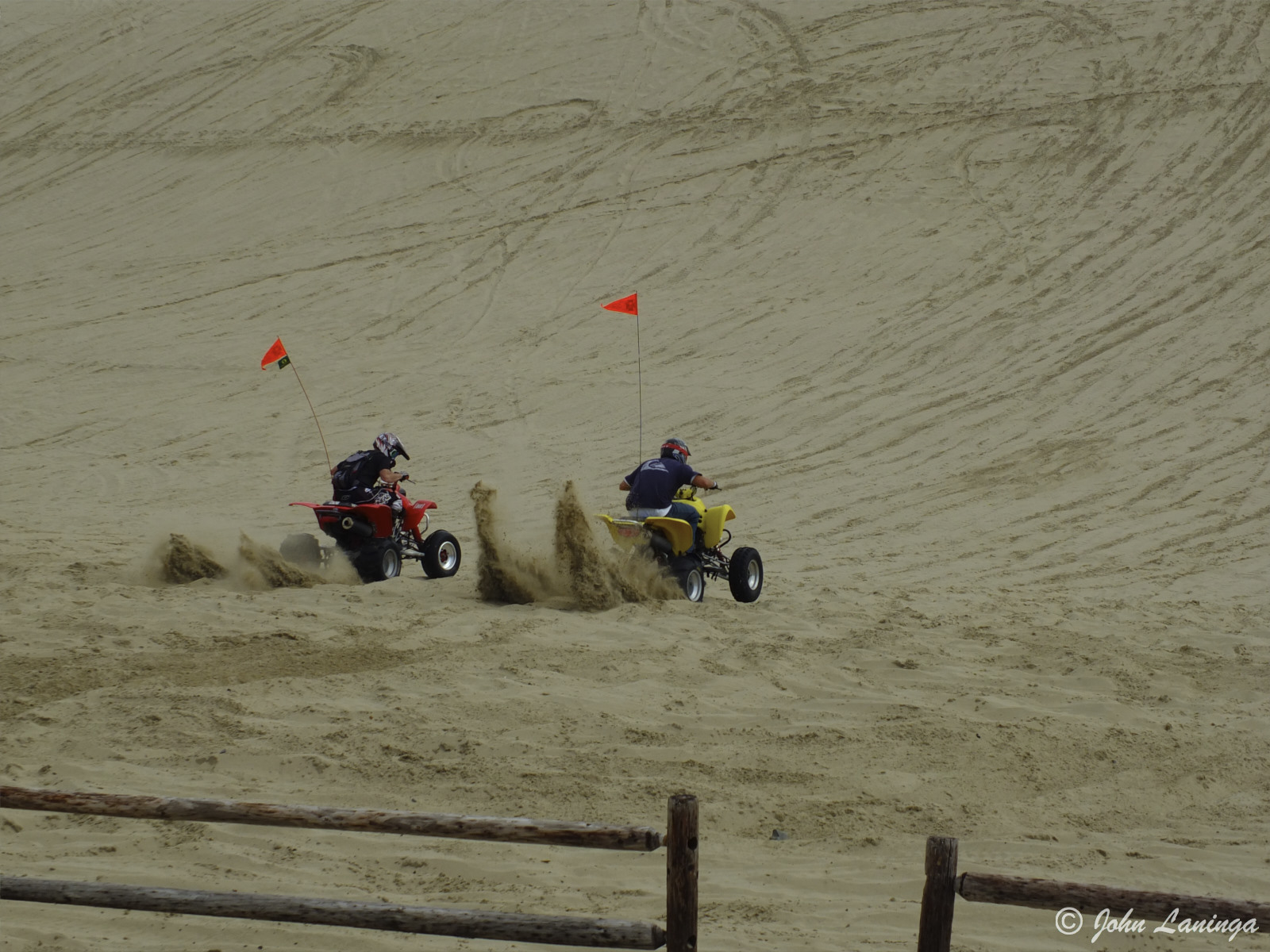 Sand buggies on a climb