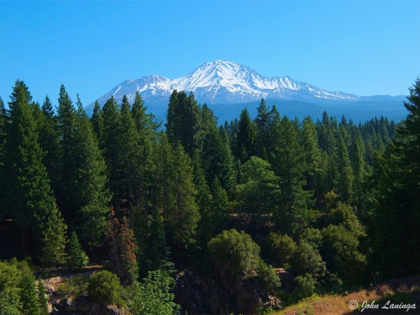 Mt. Shasta, volcanic, and 500,000 years old