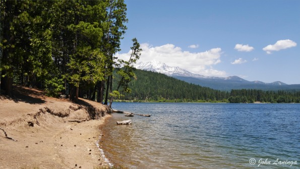 Lake Siskiyou shore at our camp site