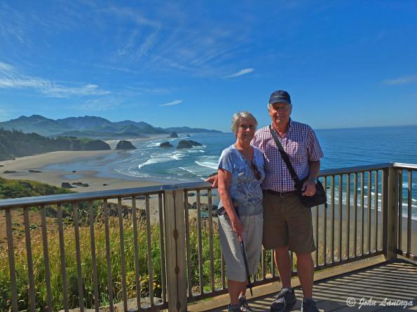 Posing near Canon Beach