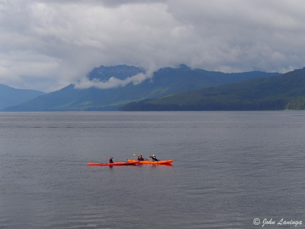Kayakers on a trip