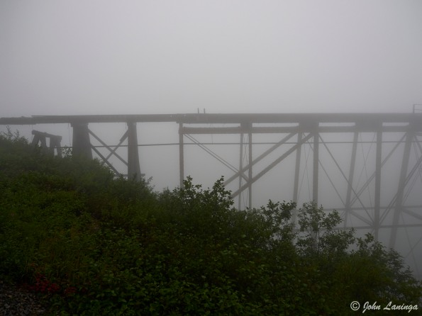 A ghostly view of the Cantilever Steel bridge (no longer used)