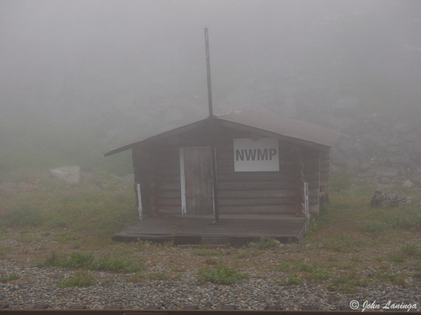 The NWMP station at the top of the pass