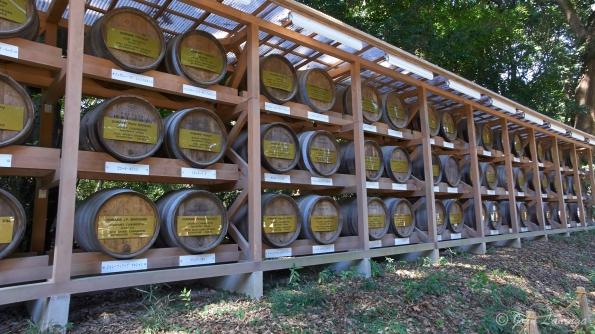 Part of the Shinto Shrine history - saki barrels