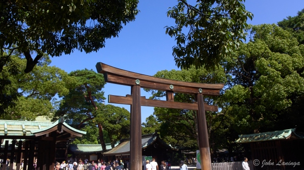 The torii gate, made from 1,500 year old cypress