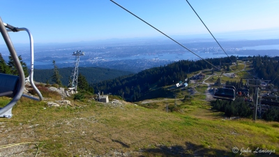 Looking back from the top chair lift
